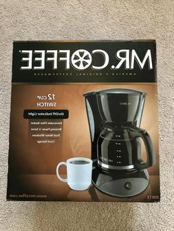 Mr. Coffee 12 Cup Switch Coffee Maker - Black DW13  - NEW