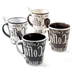 Mr Coffee 97610.08RM Bareggio 8 Pc Mug and Spoon Set, Set of