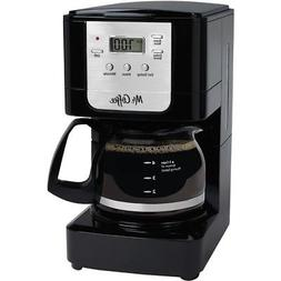 Mr. Coffee Advanced Brew 5-Cup Programmable Coffee Maker Bla