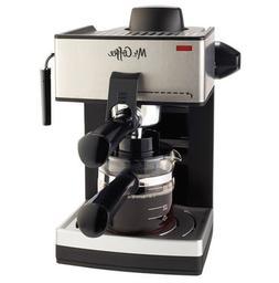 Mr. Coffee ECM160 4 Cups Steam Espresso & Cappuccino Maker -