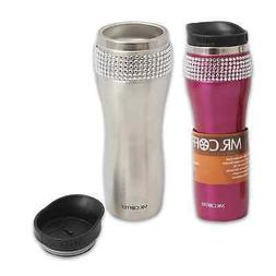 Mr-Coffee-Studio-Lux-Stainless-Steel Fancy Travel-Mug double