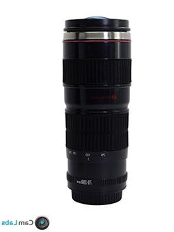 CamLabs Camera Lens Mug - Best Gift for Photographers - Free