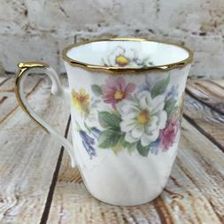 Mug Cup Coffee Tea Floral White Camellia English Bone China