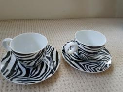 Mug Dana Buchman Animal Zebra Coffee Rosenthal Gevalia 2 Cup