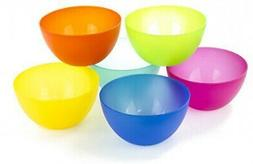Multi-colored plastic bowls, kids/child cereal/snack-BPA Fre