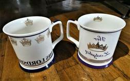 National Trust set of 2 mugs His Lordship Her Ladyship Fine