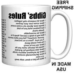 NCIS Gibbs' Rules Coffee Mug  Son or Daughter, Kids, gift te