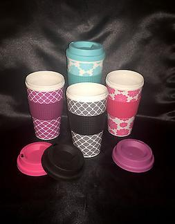 NEW 16 oz. Insulated Travel Tumbler Mug Coffee Tea  DOUBLE W
