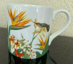 NEW Stechcol Gracie Bone China Birds Flowers Tea Coffee Mugs