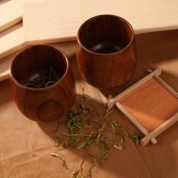 New Drinkware Water Coffee Drink Mug Wood Cup Green Tea Natu