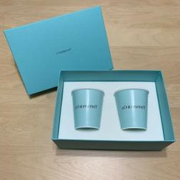 "New in box Tiffany & Co Bone China ""Paper Coffee Cup"" mug 2"