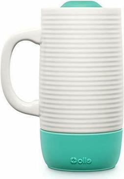 New Ello Jane 18 oz Ceramic Travel Mug with Silicone Boot Li