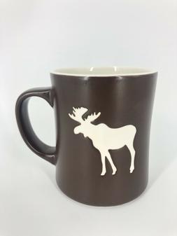 NEW Starbucks Moose Bone China Coffee Mug Brown White Dated