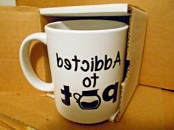 New Mug Addicted To Pot / Ceramic Coffee Hot Chocolate  3.35