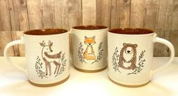 NEW Spectrum Designz Mug BEAR FOX DEER Embossed Animal Coffe