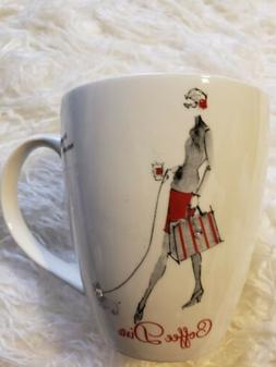 New ~ PFALTZGRAF Everyday 'Coffee Diva' Mug/Cup with Crystal