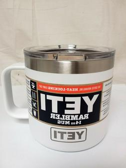 YETI NEW!! Rambler 14 oz. Insulated Mug WHITE