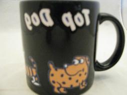 New Top Dog on Black Coffee Mug 12oz Waechtersbach Germany