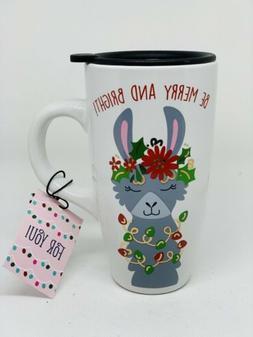 NEW Travel Coffee Mug Cup Reusable Safe Lid Microwave Cerami