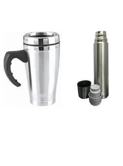 NEW Vacuum Flask Stainless Steel Coffee Bottle Thermos 500ml