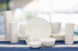 New Mikasa Vail 40-piece Bone China Dinnerware Set Service F