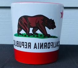 NEW WITH TAGS-California Republic 16oz handled ceramic coffe