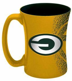 NFL Green Bay Packers Mocha Mug, 14-ounce, Yellow