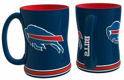 NFL Sculpted Coffee Mug, 15 Ounces, Buffalo Bills