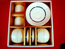 NIB HANKOOK FINE BONE CHINA 8 PIECE TEA SET ~ MADE IN KOREA
