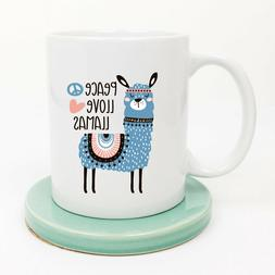 No Drama Llama Coffee Mug Peace Love Gift For Women Coffee M