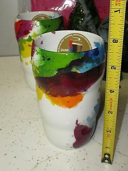 no handle COFFEE MUG palette GRIP IT cup splash SPLATTERED P