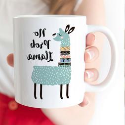 No Prob Llama Coffee Mug - Nordic Scandinavian Pattern Llama