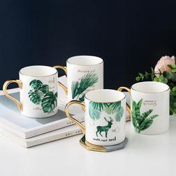 Nordic Style Coffee Mug Tropical Plant Ceramic Cup Tea Milk