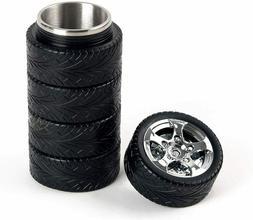 Tire Coffee Tea Mug Stainless Steel Interior Durable Cup 11