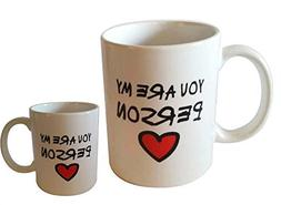 Amazing2015 Novelty Romantic Love Theme You're My Person Mug