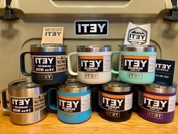 NWT AUTHENTIC YETI Rambler Coffee Mug 14oz  ~ Choose Color!