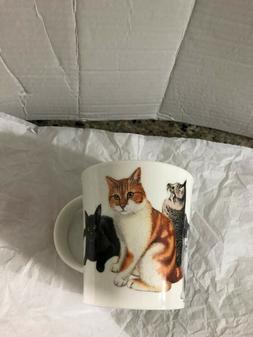 DUNOON NWT ENGLAND CATS AND KITTENS FINE BONE CHINA 16 OZ MU
