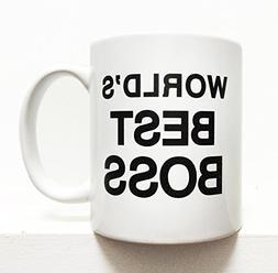 "The Office ""Worlds Best Boss"" coffee mug- White 8 ounces"