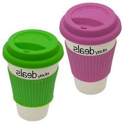 Official Branded eBay Deals Logo Travel Mug Reusable Bamboo