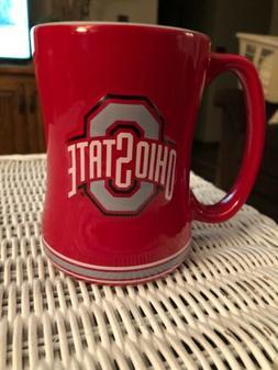 Ohio State Buckeyes Coffee Cup 14oz Relief Design Coffee Mug