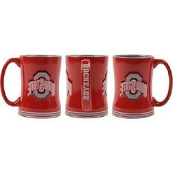 Ohio State Buckeyes Coffee Mug Relief Sculpted Team Color Lo