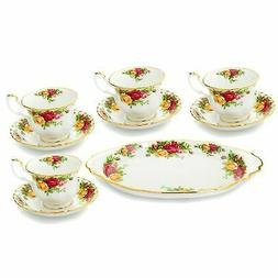 Royal Albert Old Country Roses 9-Piece 22K Gold Accented Bon