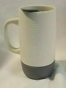 Ello On The Go Ceramic Travel Coffee Car Work Mug Gray W/ Sp