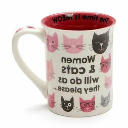 Enesco Our Name is Mud Women and Cats do as they Please Coff