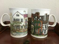 "Pair Dunoon England Bone China Sue Scullard 4""H Tea Coffee M"