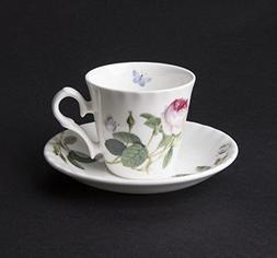 Roy Kirkham Palace Garden Rose Espresso Cup & Saucer in Fine