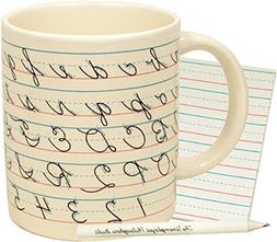 Penmanship Coffee Mug - All of the Cursive Letters as well a