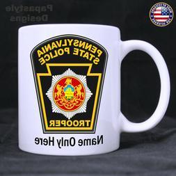 Pennsylvania State Police Patch Personalized 11oz. Coffee Mu