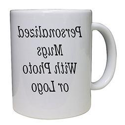 Design Your Personalized Photo Coffee Mug - Upload your logo