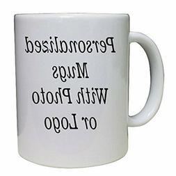 Personalized Coffee Mug Custom Photo Text Logo Name Printed
